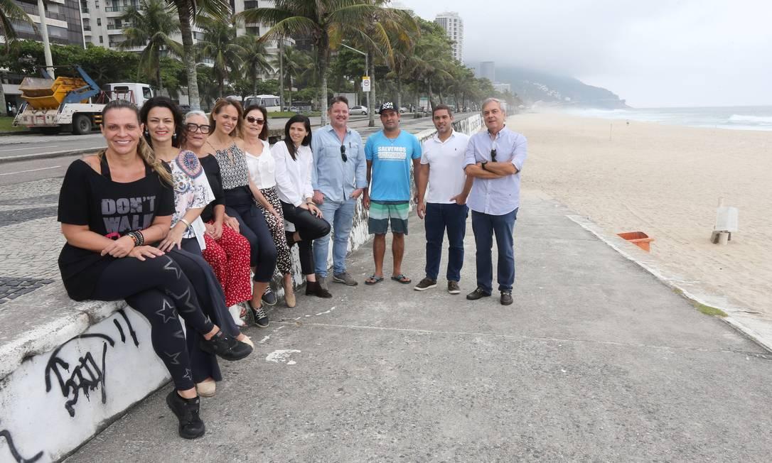 Integrantes da Associação de Moradores e Amigos de São Conrado: pesquisa para entender o que vizinhos querem Foto: Agência O Globo / Guilherme Pinto