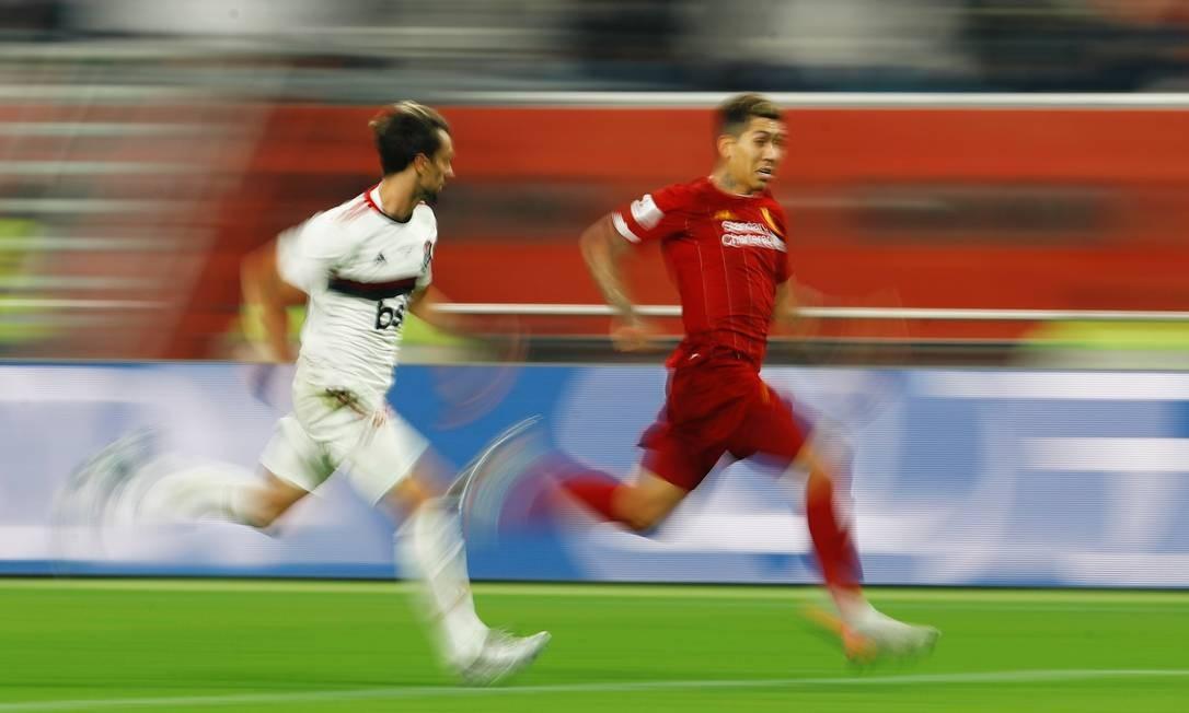 Flamengo contra Liverpool na final do Mundial de Clubes Foto: KAI PFAFFENBACH / REUTERS