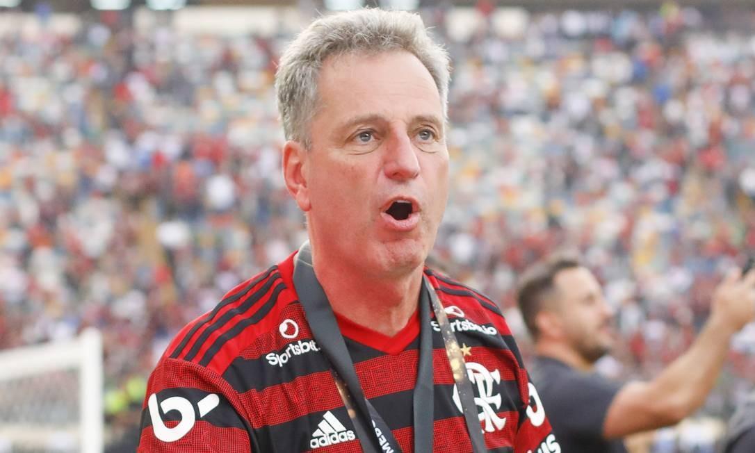 Rodolfo Landim, campeão da Libertadores e do Brasileiro no primeiro ano de gestão Foto: Ricardo Moreira/Zimel Press/Agência O Globo
