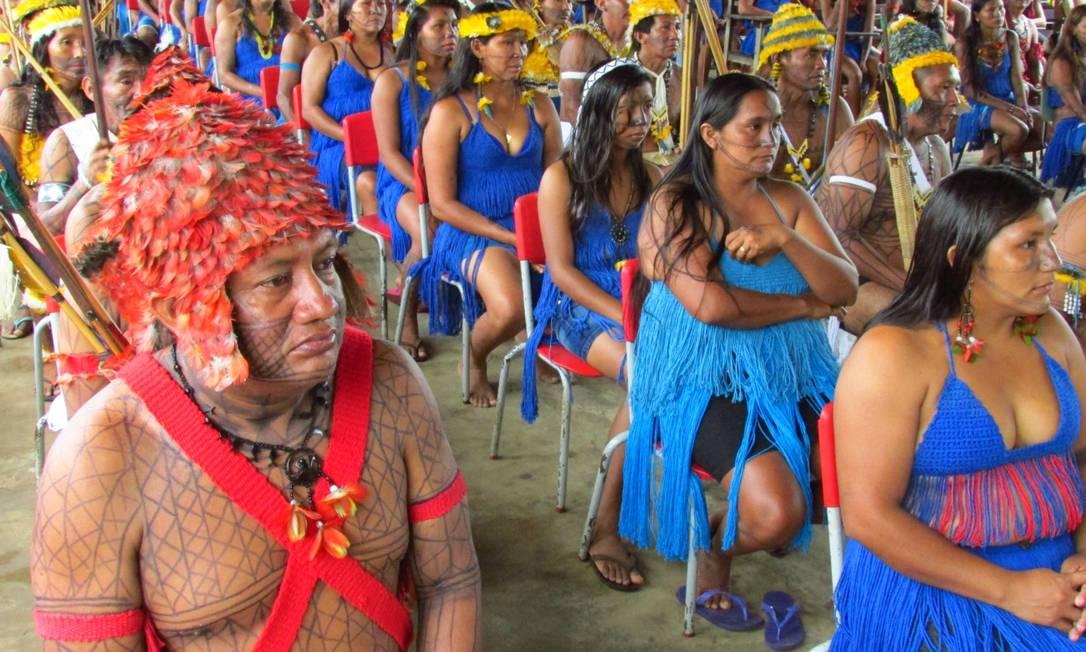 Formatura de 200 indígenas Munduruku como técnicos em agroecologia, enfermagem e magistério intercultural; projeto, de 2015, foi um dos bancados com verba que, no atual MEC, está parada Foto: Acervo Funai/CGPC