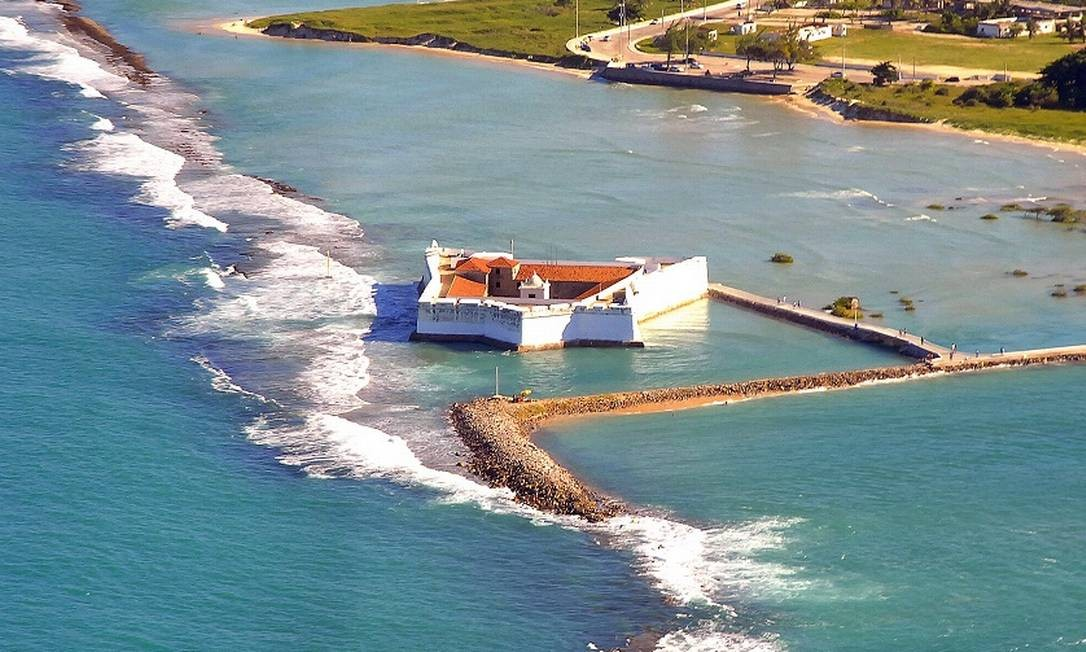 Imagem aérea do Forte dos Reis Magos, em Natal, no Rio Grande do Norte Foto: Ney Douglas / Ministério do Turismo / Divulgação