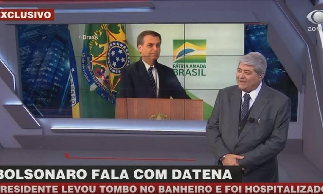 Bolsonaro deu entrevista à TV Bandeirantes nesta terça-feira Foto: Reprodução / Band