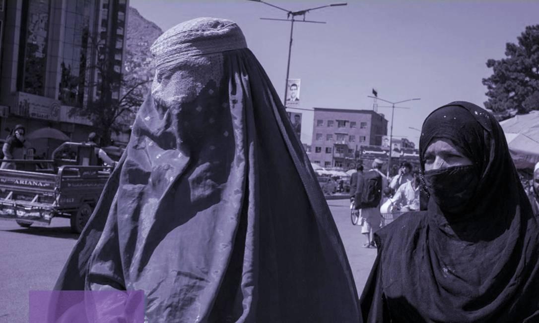 Mulheres vistas em Cabul, Afeganistão Foto: Yan Boechat