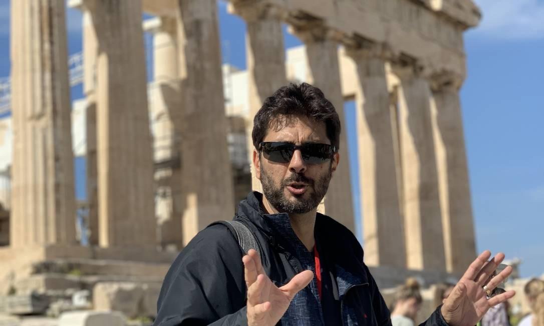 Professor de filosofia, Silvério Ortiz levará um grupo de turistas para a Itália Foto: Divulgação