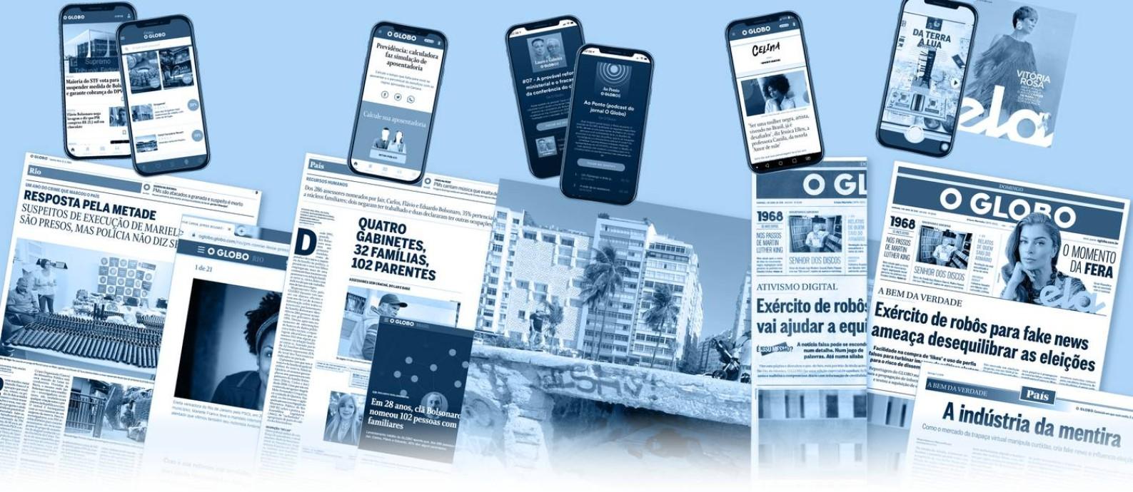 O GLOBO investe em conteúdo, serviços e inovação Foto: Editoria de Arte