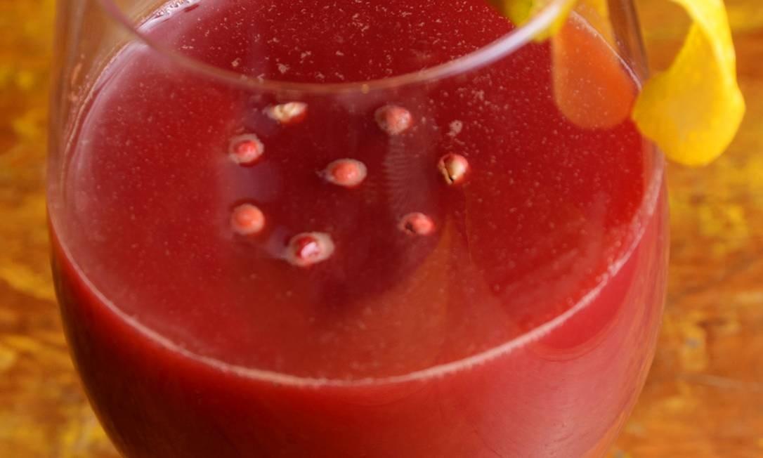 Clássico Sunset Club: Para o detox, tem o suco de beterraba, cenoura, maçã e pimenta rosa (R$13, com 300ml e R$17, com 500ml). Pão de Açúcar: Av. Pasteur 520, Urca (bondinho à parte) - 3489-9217. Foto: Divulgação/Rio ArtCom