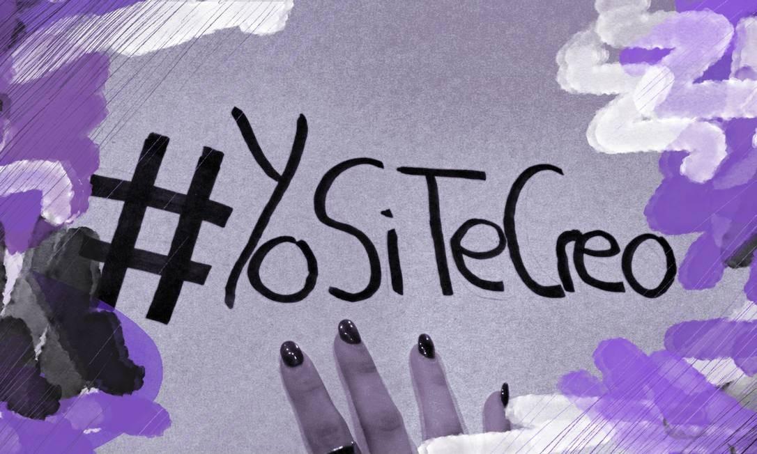 Manifestante segura cartaz com a hashtag #euacreditoemvocê Foto: Shutterstock