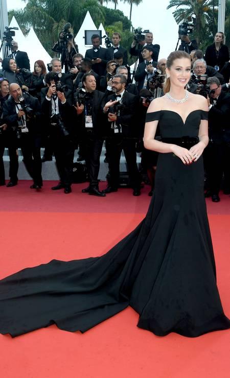 Marina Ruy Barbosa no Festival de Cannes Foto: Stephane Cardinale - Corbis / Corbis via Getty Images