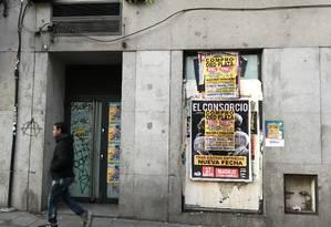 Prédio invadido em Madri, onde ocupações ilegais se multiplicam Foto: Alessandro Soler