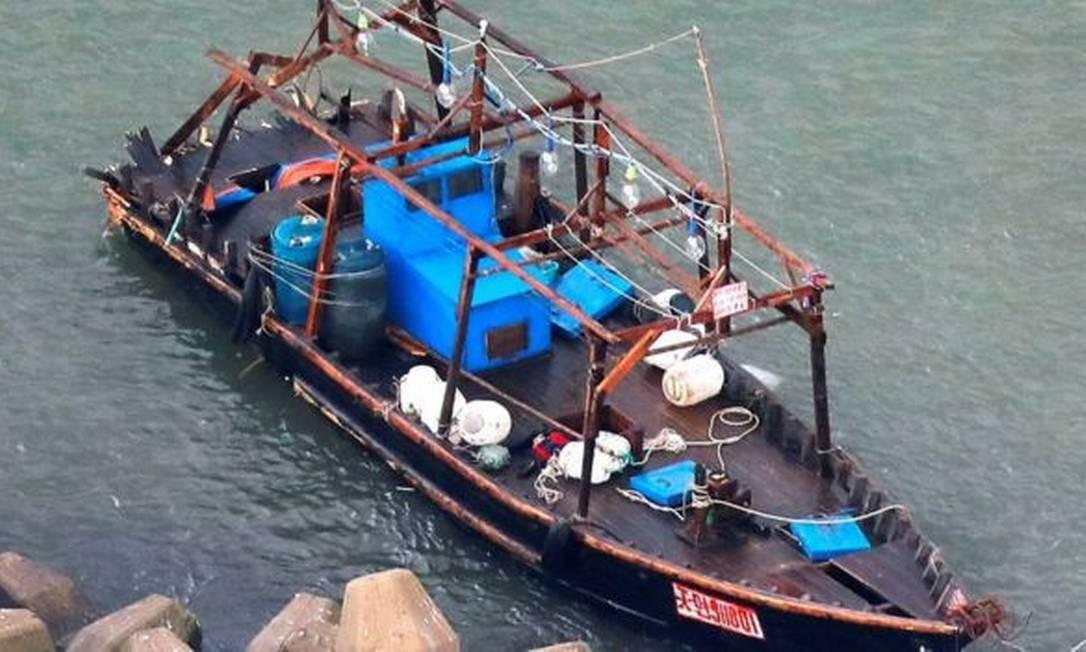 Em geral, embarcações oriundas da Coreia do Norte são bastante simples Foto: Reuters