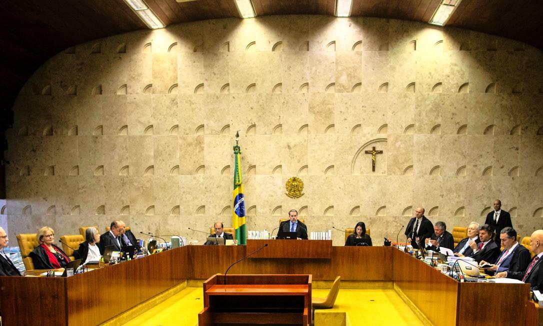 Sessão do Supremo Tribunal Federal (STF) em outubro de 2019 Foto: Daniel Marenco / Agência O Globo