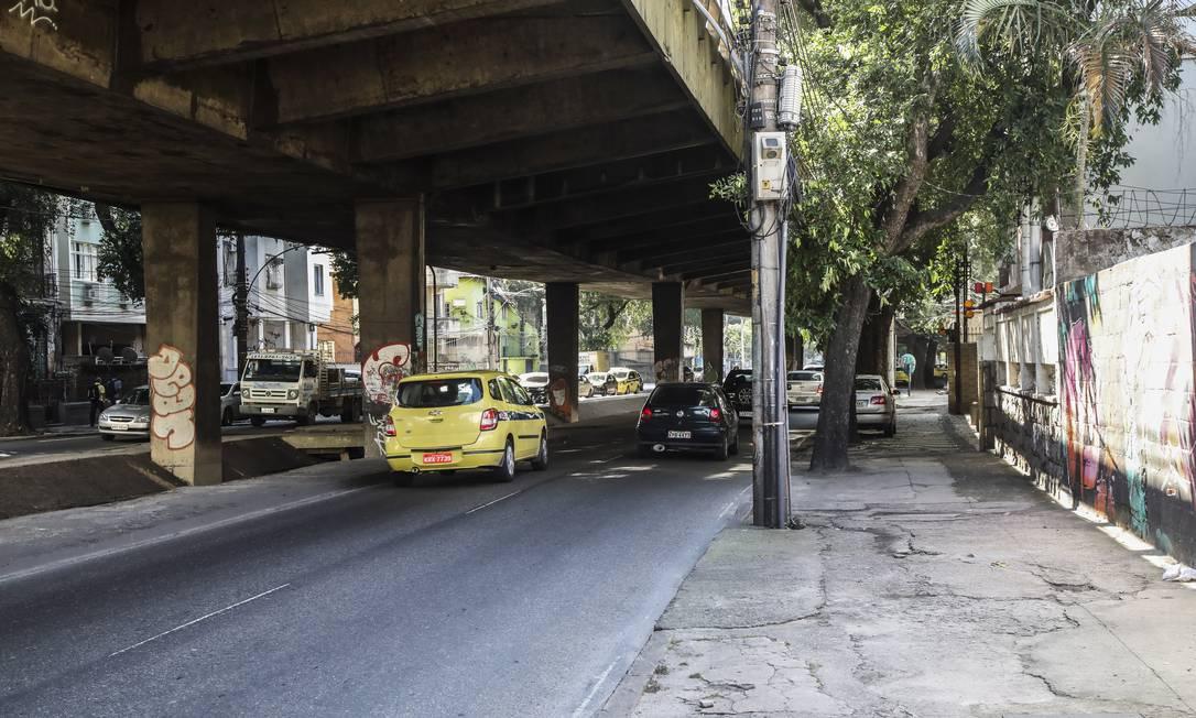 A Avenida Paulo de Frontin terá bloqueio para obras Foto: Bárbara Lopes em 09/08/2018 / Agência O Globo
