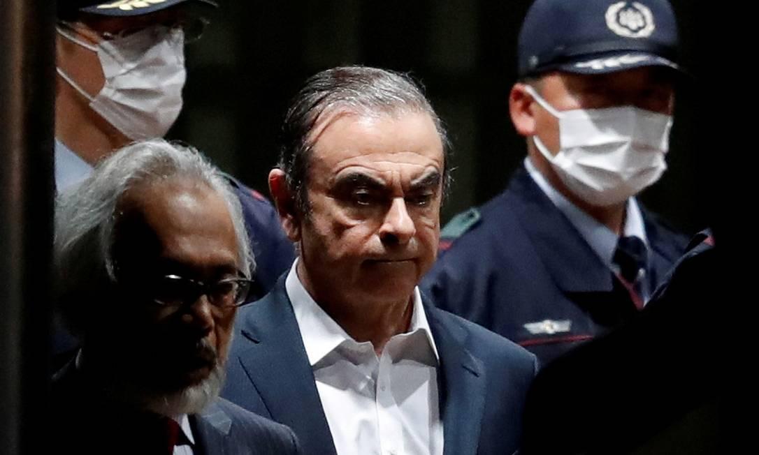 Carlos Ghosn deixou a prisão no dia 25 de abril Foto: Issei Kato / REUTERS