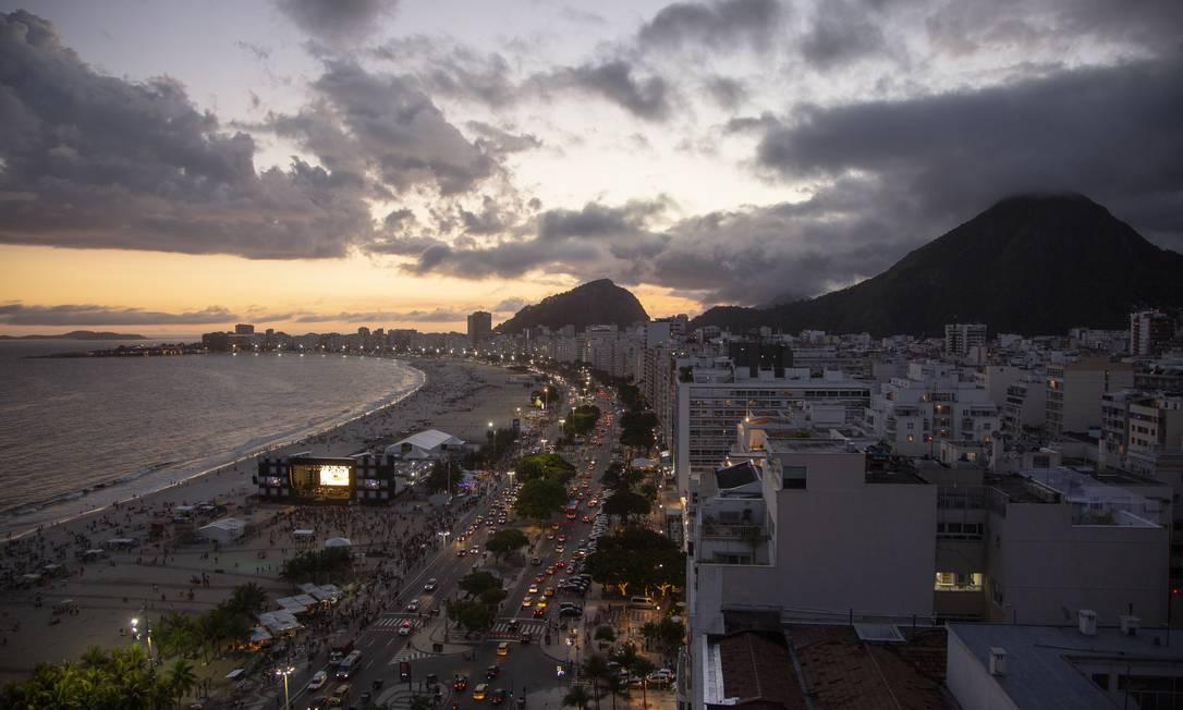 Copacabana deve receber três milhões de pessoas no réveillon Foto: Gabriel Monteiro / Agência O Globo