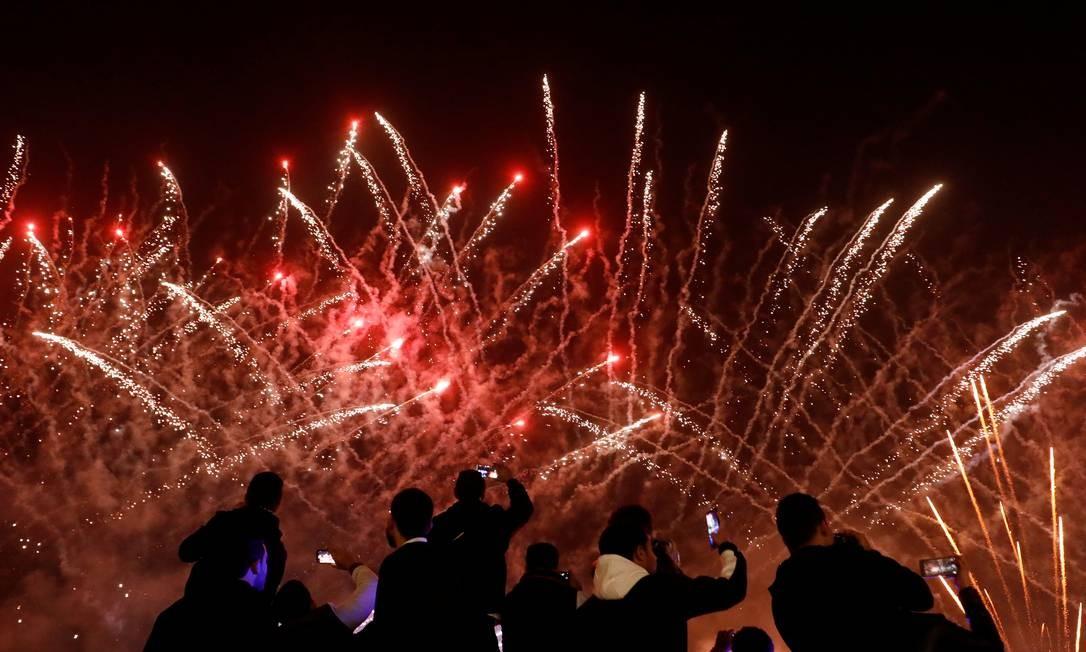 Celebrações do ano novo na hidrovia no Cairo, Egito Foto: AMR ABDALLAH DALSH / REUTERS