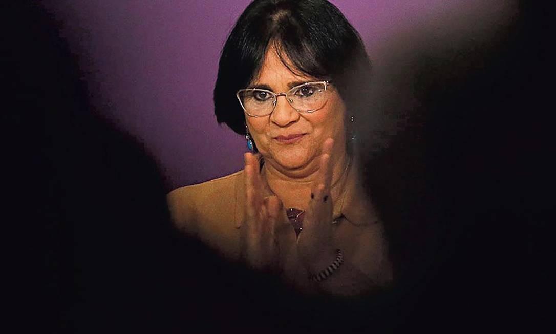 O Ministério da Mulher, Família e Direitos Humanos, liderado por Damares Alves, promove a abstinência sexual em eventos públicos sobre gravidez na adolescência Foto: Joege William