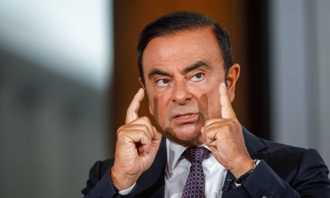 """O ex-CEO da aliança Nissan-Renault Carlos Ghosn fugiu para o Líbano para escapar do que classificou como um sistema de justiça """"fraudulento"""" e da perseguição política Foto: Bloomberg"""