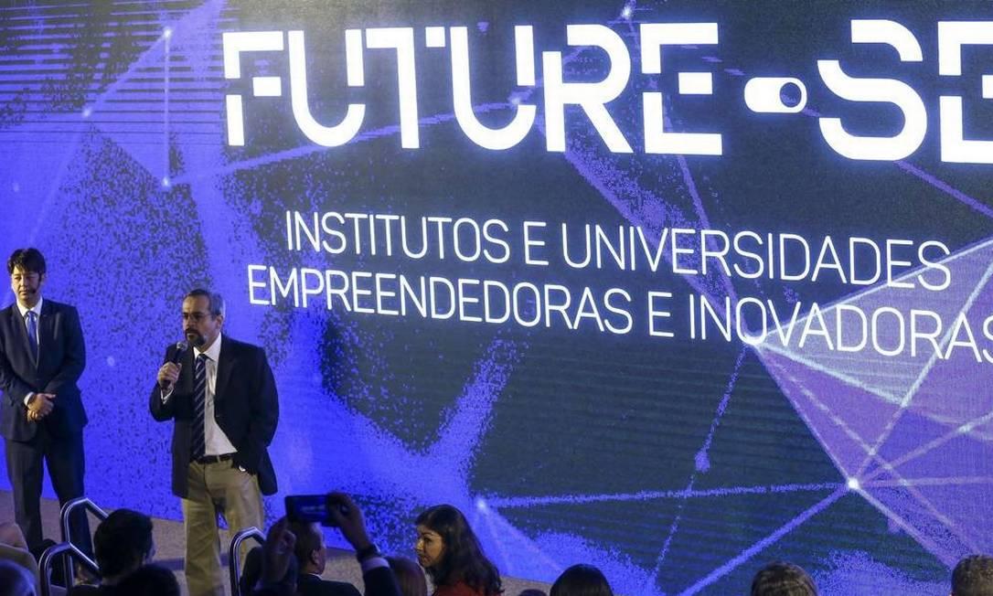 Ministro Abraham Weintraub lança programa Future-se Foto: Marcelo Camargo/Agência O Globo