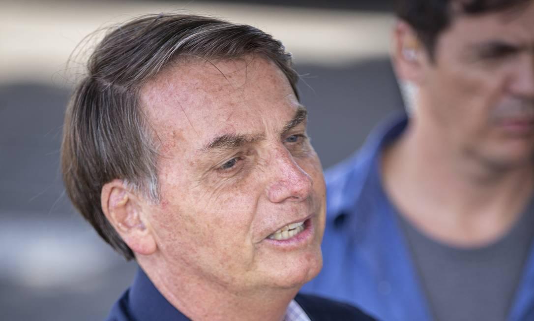Bolsonaro também voltou a criticar o educador Paulo Freire Foto: Daniel Marenco / Agência O Globo