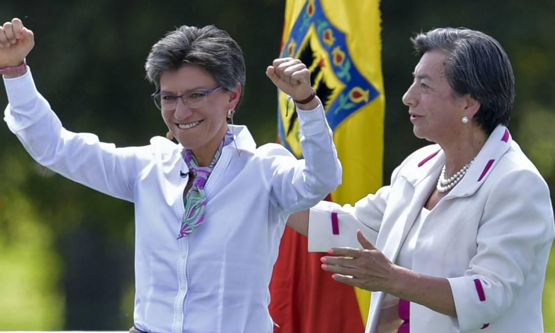 Nova prefeita de Bogotá, Claudia López Foto: RAUL ARBOLEDA / AFP