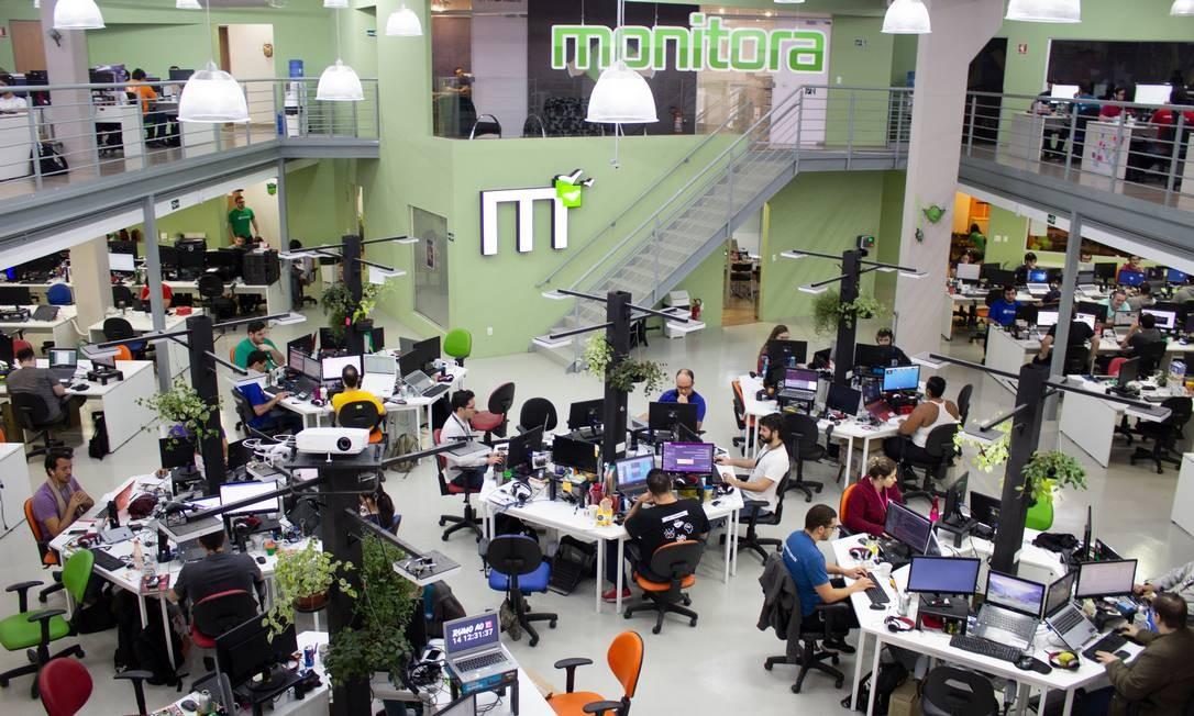 O escritório da Monitora, fábrica de software: a previsão é de contratação de mais 60 pessoas durante o decorrer deste ano Foto: Divulgação