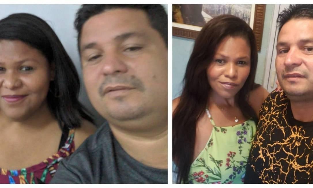Antes e depois: Alice, que pesava 125kg, agora tem 68. O marido, Renato Ribeiro, mudou hábitos para incentivá-la, e perdeu 24kg Foto: Álbum de família