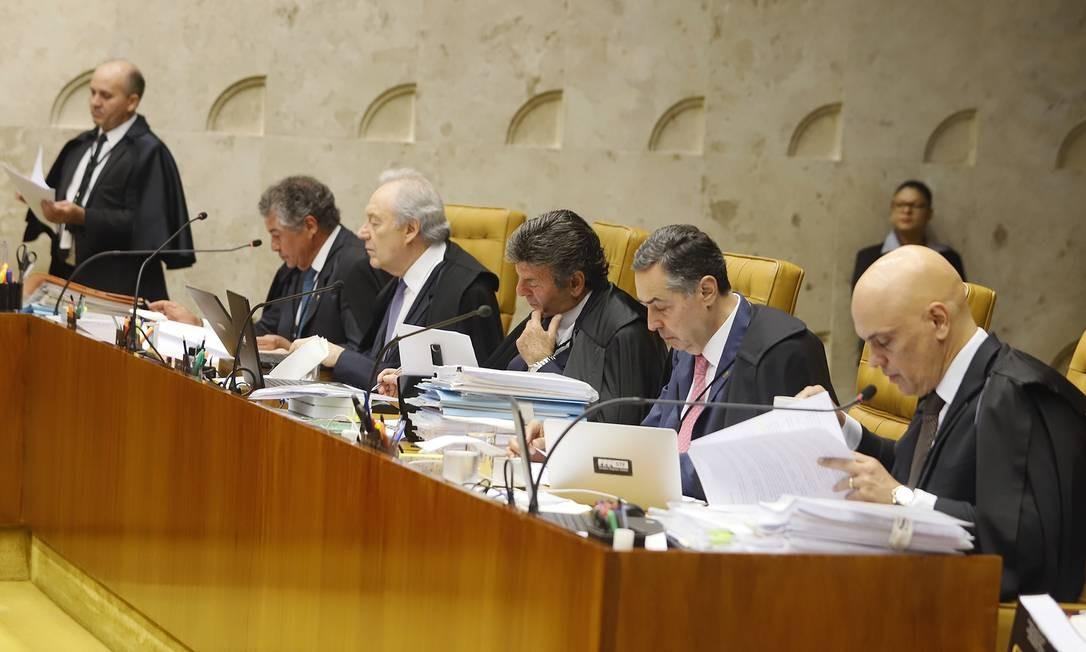 Demanda. Em 2019, partidos acionaram ministros do STF em 91 ações que têm o poder de alterar leis ou decretos Foto: Rosinei Coutinho / Agência O Globo
