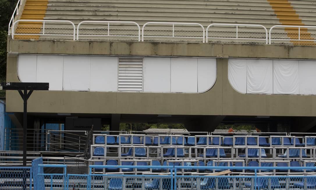 Camarote da prefeitura no Sambódromo: ano passado, leilão do espaço foi alvo de CPI Foto: Márcia Foletto / 6-2-2019 / Agência O Globo
