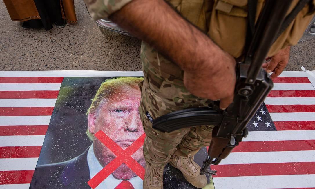 A estratégia militar iraniana é atacar alvos americanos com a ajuda de forças aliadas de outros países Foto: HUSSEIN FALEH / AFP