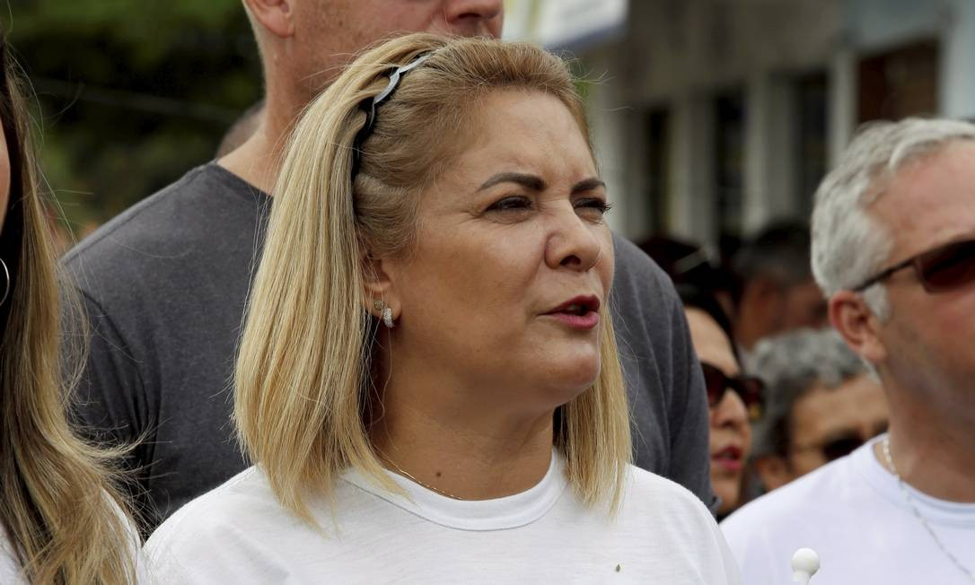 Ana Cristina Valle participa de ato de campanha a favor de Bolsonaro, em 2018 Foto: Marcos Ramos / Agência O Globo
