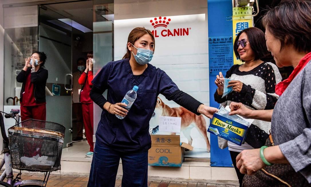 Em 2003, uma síndrome respiratória aguda grave matou 349 pessoas na China continental e outras 299 em Hong Kong. Foto: ISAAC LAWRENCE / AFP