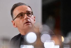 Ministro das Relações Exteriores da Alemanha, Heiko Maas, durante encontro em Berlim Foto: JOHN MACDOUGALL / AFP/18-12-2019