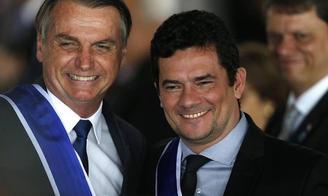 Jair Bolsonaro e Sergio Moro Foto: Jorge William/Agência O Globo