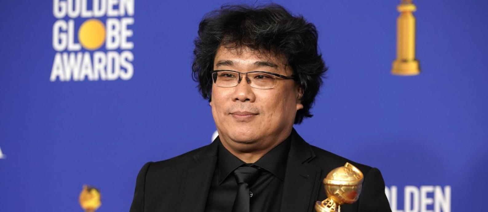 """Bong Joon Ho, diretor de """"Parasita"""", que levou o Globo de Ouro por melhor filme em língua estrangeira Foto: MIKE BLAKE / REUTERS"""