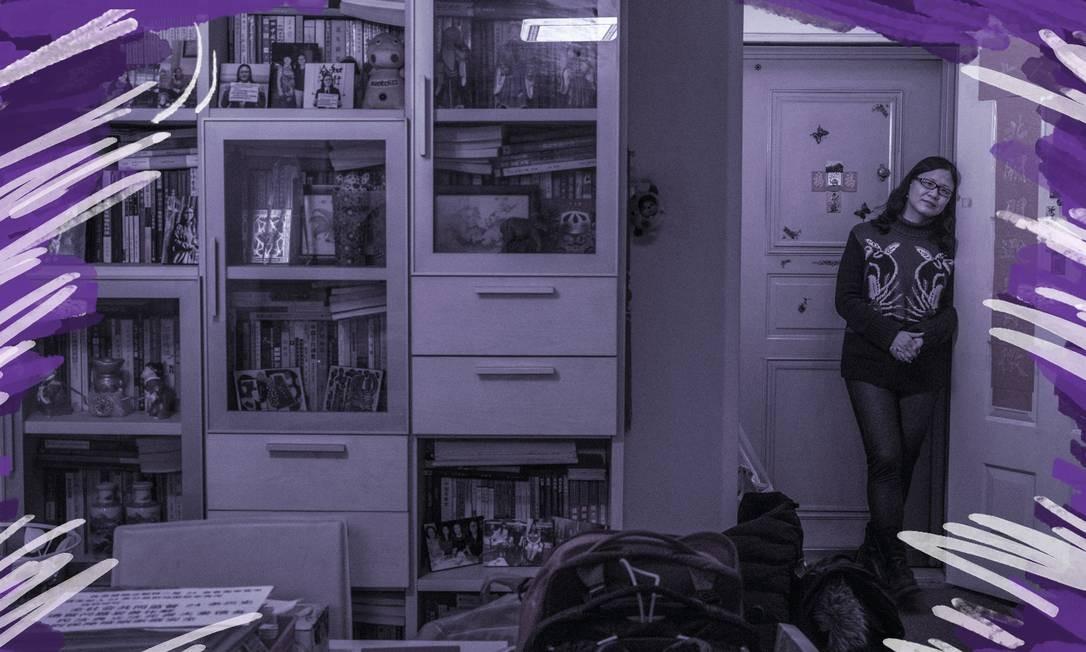 Li Xiuping em seu apartamento em Pequim: ela pode perder a casa para pagar um empréstimo feito pelo ex-marido Foto: GILLES SABRIE / NYT