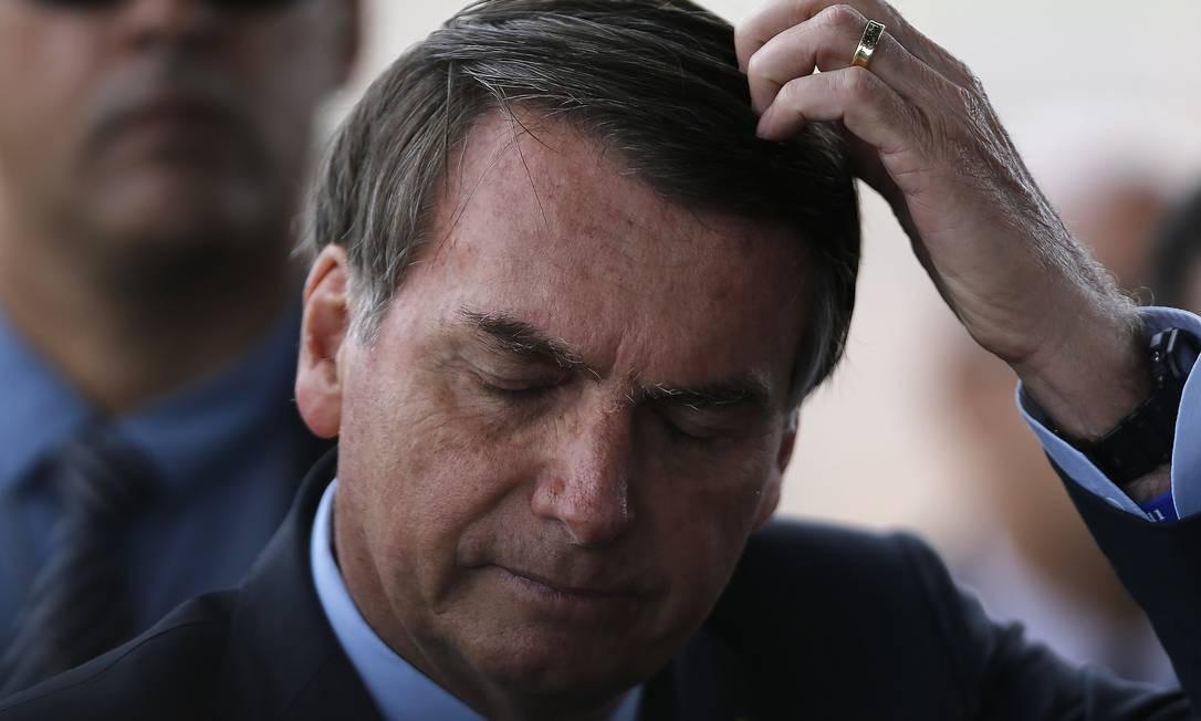 Bolsonaro reafirmou que não vai 'taxar' a energia solar Foto: Jorge William / Agência O Globo