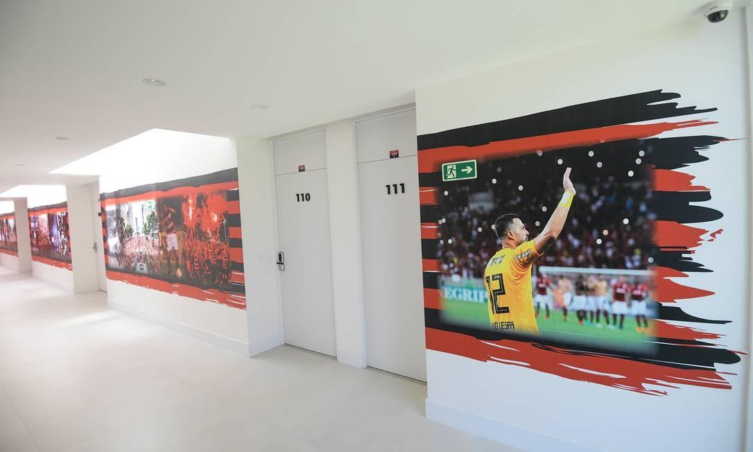 Ninho do Urubu ganha personalização Foto: Alexandre Vidal/Flamengo