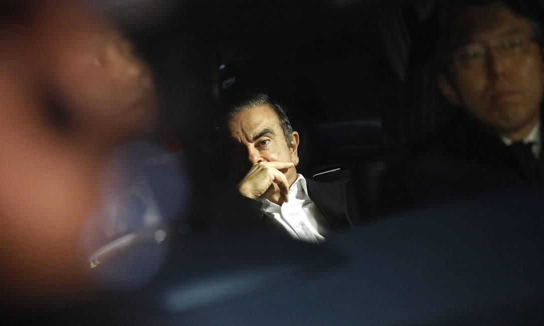 O executivo brasileiro, Carlos Ghosn, ex-líder da aliança das montadoras Nissan e Renault, é acusado de fraudes financeiras no Japão, onde estava em prisão domiciliar. Photographer: Takaaki Iwabu/Bloomberg Foto: Takaaki Iwabu / Bloomberg