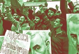 Iranianos protestam por assassinato do general Qassem Soleimani Foto: Arif Ali / AFP
