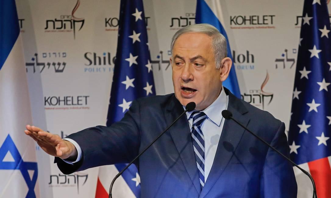 O primeiro-ministro de Israel, Benjamin Netanyahu, advertiu o Irã sobre possíveis ataques contra o país Foto: MENAHEM KAHANA / AFP