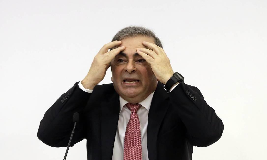 Ele prometeu limpar seu nome quando fez sua primeira aparição pública em uma entrevista coletiva em Beirute Foto: JOSEPH EID / AFP