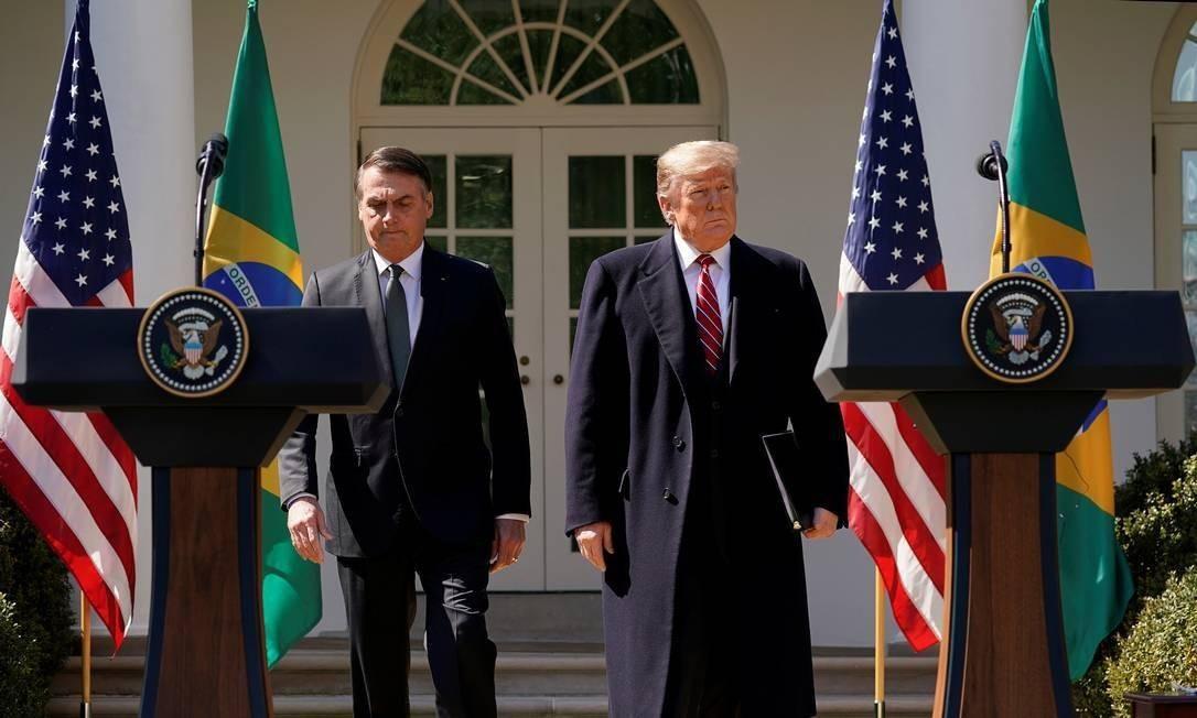 Jair Bolsonaro e Donald Trump Foto: KEVIN LAMARQUE / REUTERS