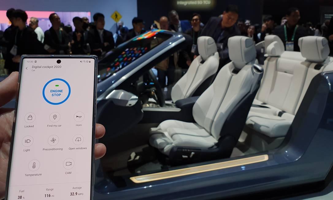 Parceria da Harman com a Samsung permite conectar o celular ao carro Foto: Divulgação / Divulgação