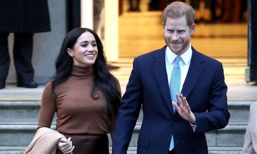 O duque e a duquesa em seu primeiro compromisso oficial do ano Foto: Chris Jackson / Getty Images
