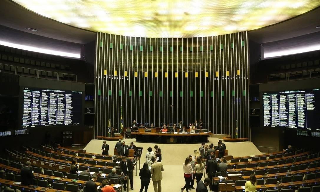 O plenário da Câmara, em Brasília Foto: Ailton de Freitas/Agência O Globo