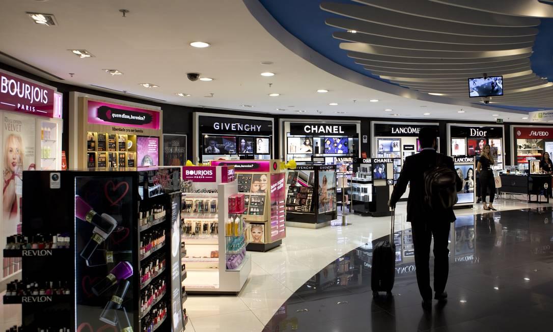 Free shop do aeroporto de Brasília Foto: Michel Filho