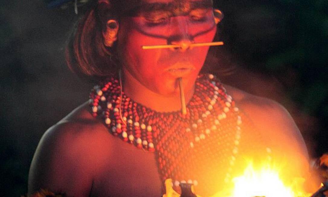 Ritual do fogo. Imagem faz parte da exposição coletiva Foto: Divulgação / Divulgação