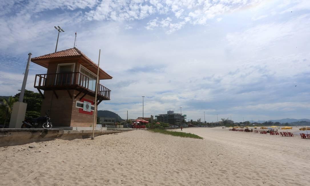 Um dos postos de Piratininga fica na divisa com a Prainha. Foto: Fabiano Rocha / Agência O Globo