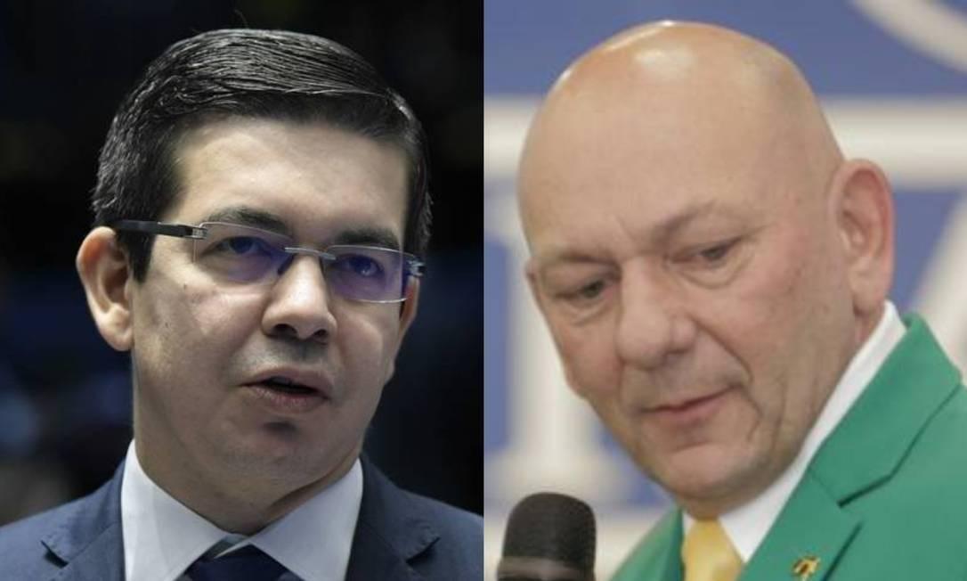 Randolfe Rodrigues e Luciano Hang Foto: Pedro França/Agência Senadoe Imago Images