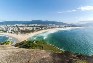 Agência oferece rapel dentro do passeio da Pedra do Pontal Foto: Douglas Silva da Cruz / Divulgação